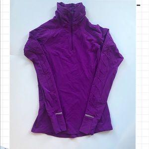 LuluLemon women's Half-zip purple long sleeve top
